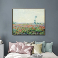 Poppy Field by Monet Canvas Painting Calligraphy Poster Prints Living Room House Wall Art Painting Home Decoration Picture selflessly wall impressionism monet wild poppy field sunrise landscape canvas painting art print poster picture painting