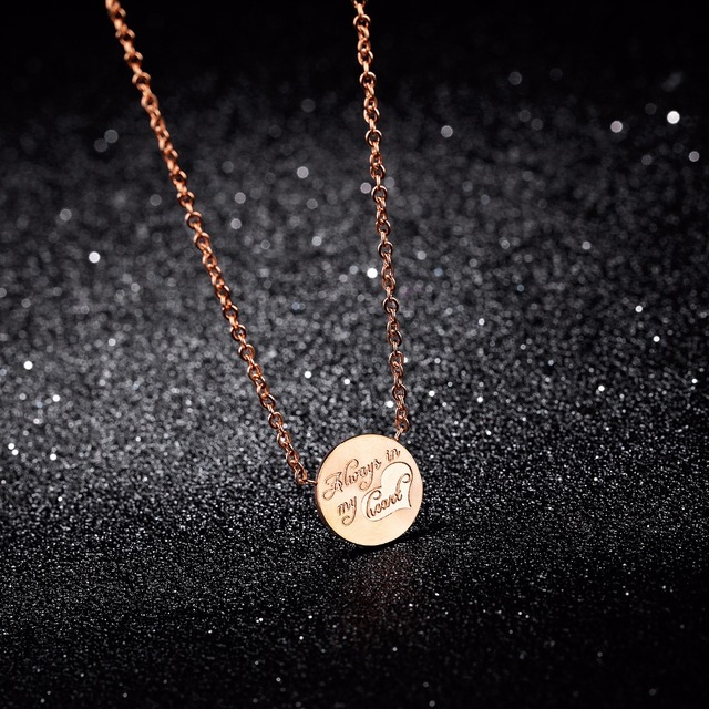 Girls Sweet Gift Jewelry Delicate Collarbone Necklace Rose Gold