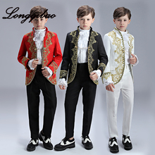 Children's European Costume Suit Court-Dress High-Quality Photo Studio Charming-Drama