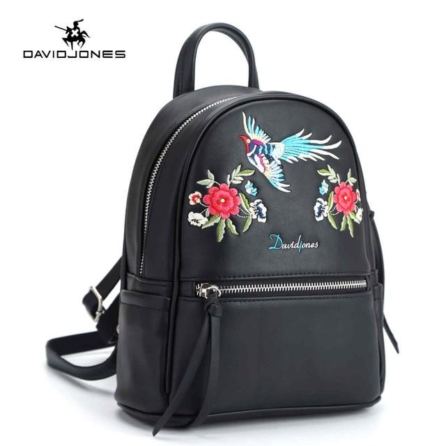 DAVIDJONES 2018 Vintage Embroidery Backpack Bags For Girls School Bags  Casual Women Shoulder Bags Backpack Bag Feminina Mochila 5d5eab891511e