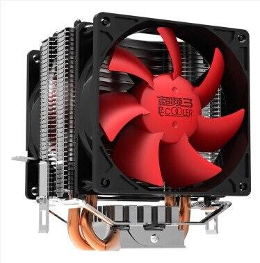 Cpu cooler, Double - ventilateur, 2 heatpipe, Tour côté - soufflé, Pour Intel LGA 775 / 1155 / 1156, Pour AMD 754 / 939 / AM2 / AM2 + / AM3 / fm1, Cpu radiateur