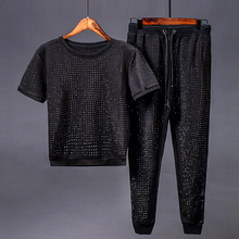 2017 New Europe and the United States Street fashion brand tracksuit short sleeve casual suit summer hot sale