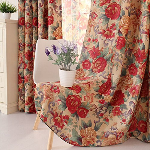 Brand European Retro Fancy Curtain Elegant Shabby Style Flowers Jacquard Window Blinds Designer Home Choice Blackout