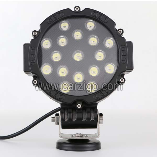 czg 51wr 4x4 7 inch round 51w led work light led driving light 7 led auto lamp led off road light for jeep truck suv atv utv 7 INCH 51w Flood Beam LED off road headlight round as fog light Truck for Jeep Train 7 51w led work light 51w led driving light