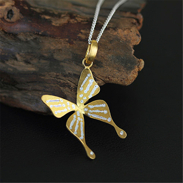 Special & Elegant Butterfly Pendant Real 925 Sterling Silver  New Arrival Fashion Handmade Jewelry Women Pingente