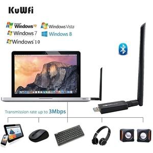 Image 3 - 1200Mbps USB3.0 Dual Band 802.11ac Draadloze Usb Netwerkkaart Wifi Lan Dongle Bluetooth Adapter Met 5 Dbi Antenne