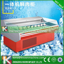 110V 2.0m Air-cooling Automatic Defrosting Seafood Refrigerating Cabinet for Sale with Stainless steel by sea