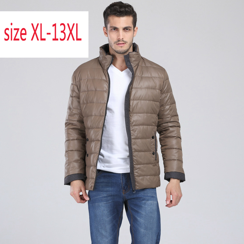 Brand Coat Very Big Giant Casual Stand Collar Obese Jacket Down Coat Plus Size Xl-4xl 5xl 6xl 7xl 8xl 9xl 10xl 11xl 12xl 13xl