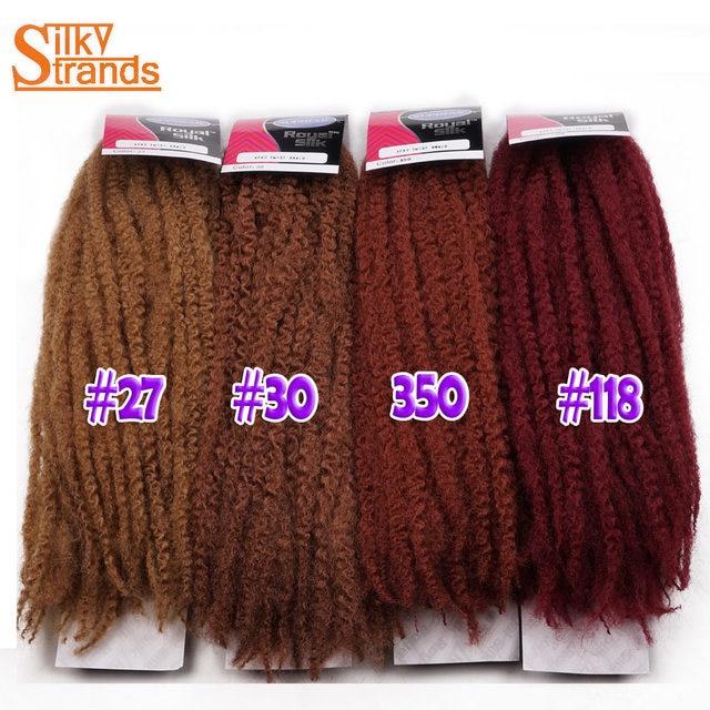 Silky Strands Marley Braids Hair Crochet Ombre Afro Synthetic Braiding Hair Crochet Braids Hair Extensions Bulk