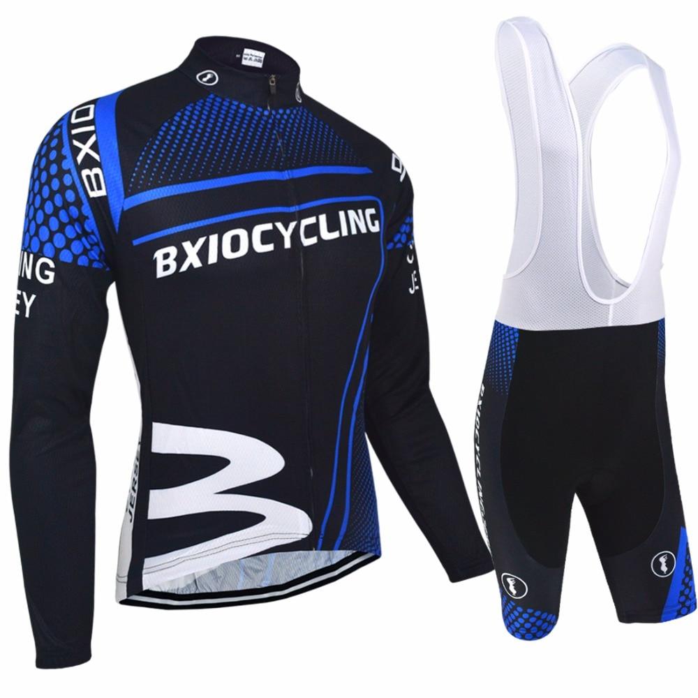 Bxio Autumn font b Cycling b font Sets Long Sleeve Road Bike Clothing Set Autumn font