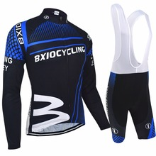 Bxio Autumn Cycling Sets Long Sleeve Road Bike Clothing Set Autumn Bicycle Kits Ropa De Ciclismo MTB Ridding Clothes 010MIX