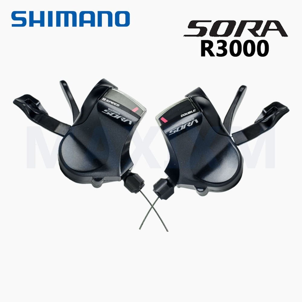 Shimano Sora SL-R3000 Flat Bar bicycle Shifter Lever 2*9 speed Bike цены