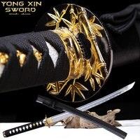 Handforged Japanese Katana swords Full Tang Real Steel With Blood Groove Handmade Samurai Sword Sharp Blade