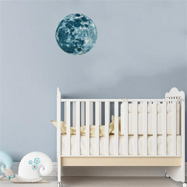 20cm 3d large moon wall sticker wall decor for room decoration