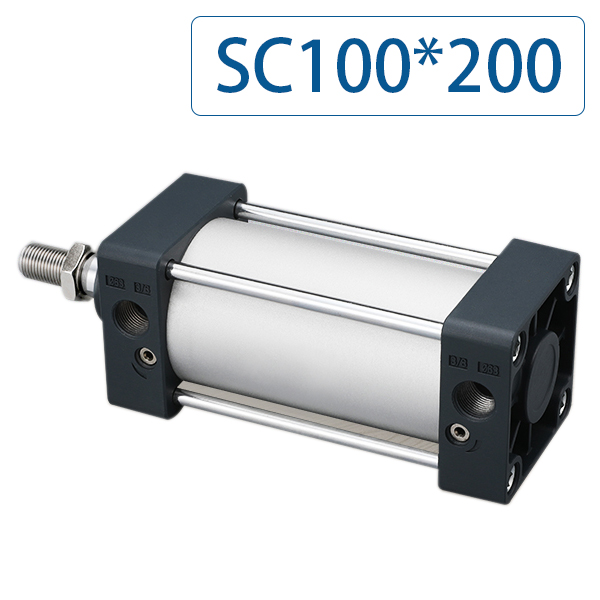 Free shipping SC100x200 Series Single Rod Double Acting Pneumatic Bore 100 Strock 200 Standard air pneumatic cylinder SC100*200Free shipping SC100x200 Series Single Rod Double Acting Pneumatic Bore 100 Strock 200 Standard air pneumatic cylinder SC100*200