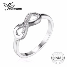 hot deal buy jewelrypalace infinity forever love cubic zirconia anniversary promise ring for women genuine 925 sterling silver fine jewelry