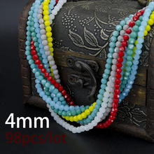 Football Faceted Austrian crystal beads 4mm 98pcs High quality Round sphere crystal Loose beads for jewelry making bracelet DIY