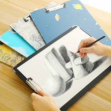 Buy 8K Sketch Pad Clip Waterproof Sketch Painting Board Potable 40*30cm For Drawing Tool For School Students Stationery Art Supplies directly from merchant!