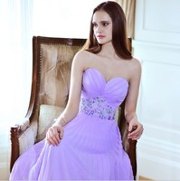 2019 Бесплатная доставка, шифоновые фиолетовые вечерние длинные платья, халат de soiree vestido de casamento longo com TK562