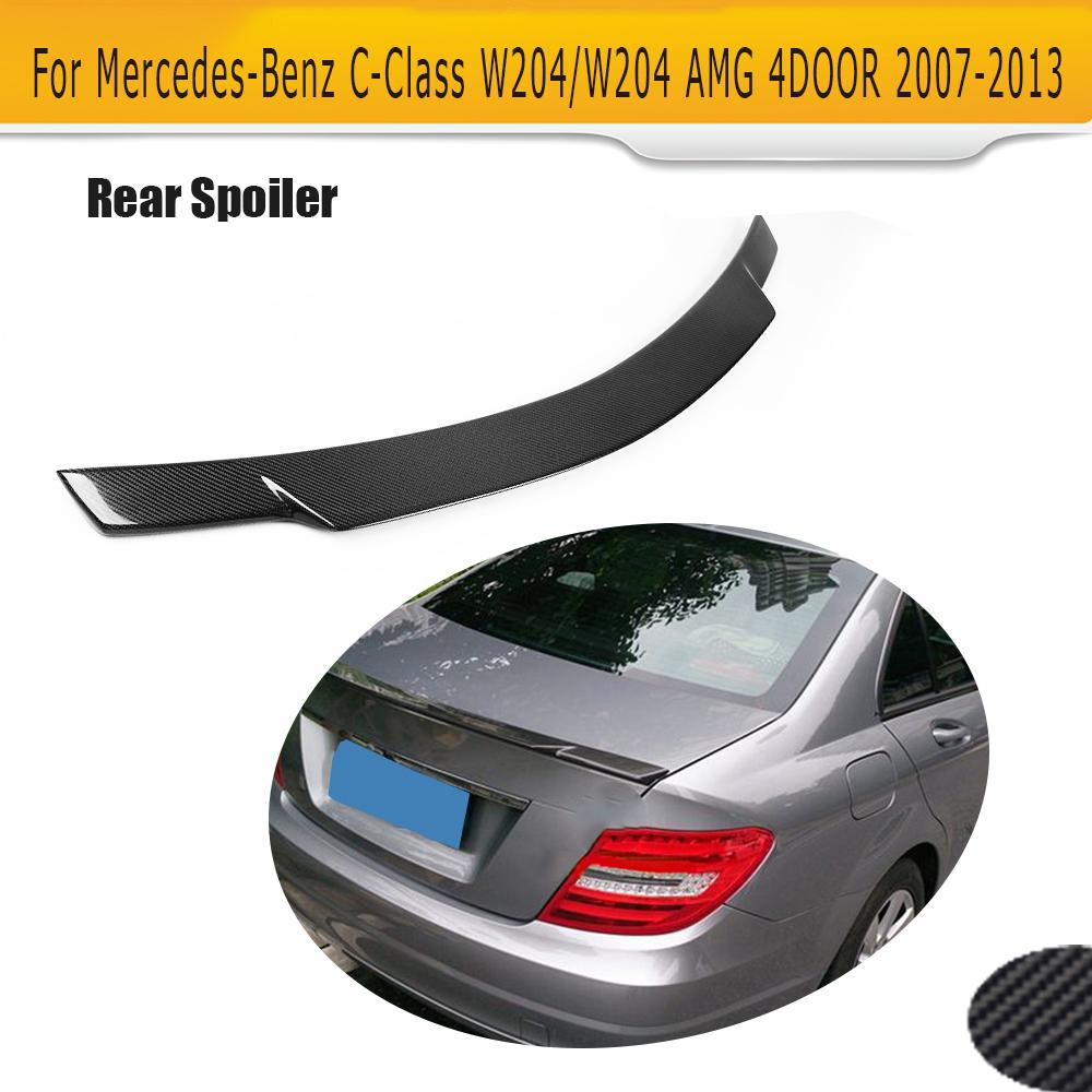 Carbon Mercedes BENZ S-Class W221 4D V Rear Trunk Spoiler 2007-2013