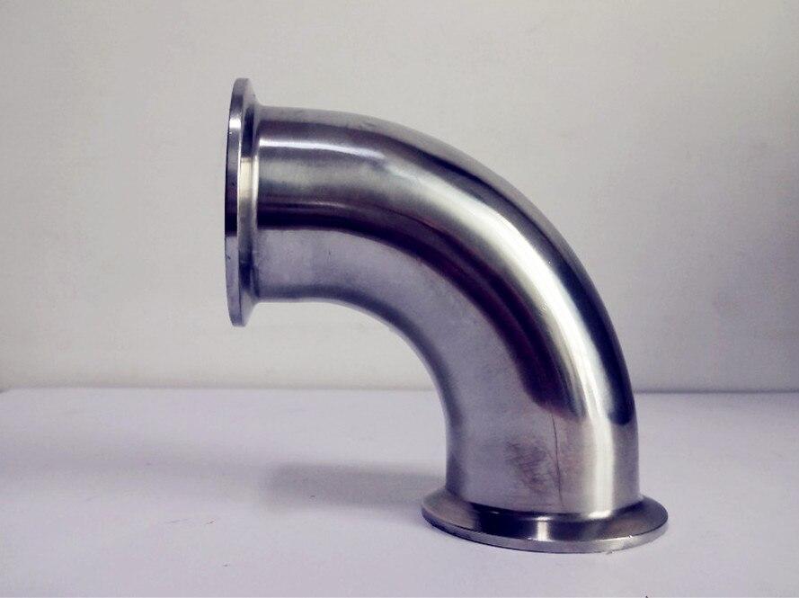 """Livraison gratuite 1.5 """"(38mm) OD50.5 90 degrés courbure de tuyau, raccord de coude de connexion à trois pinces, SS304"""