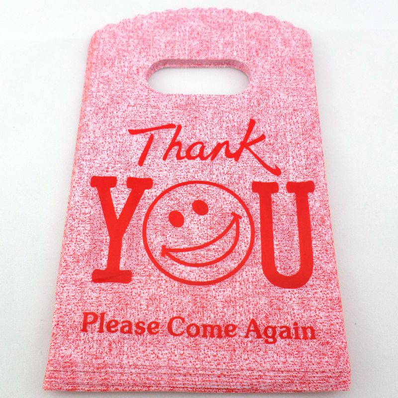 100pcs Plastic Small Pouches Bags Thank you Wedding Candy Jewelery Birthday Gift/Packing Bag 15x9cm