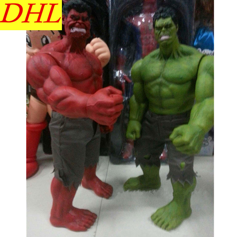 Avengers 3 Movie Superhero Incredible Hulk Robert Bruce Banner 62cm PVC Action Figure Collectible Model Toy L2094 super hero arvel the avengers movie hulk green hulk movie 10 inches loose action figure dc001008 dc001008a