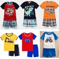 2018 Baby Boy Clothes Suits Summer Children T Shirts Shorts Pant 2 Piece Clothing Set Beach