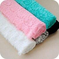 Yeni kirpik nakış dantel kumaş, moda etek bebek elbise kumaş aksesuarları, için kumaşlar patchwork, 140 cm * 150 cm/adet