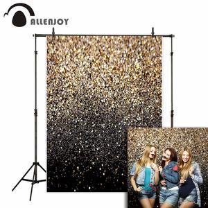 Allenjoy Блестящий Фон для фотосъемки золотой абстрактный черный фон для дня рождения для фотосъемки Фотофон