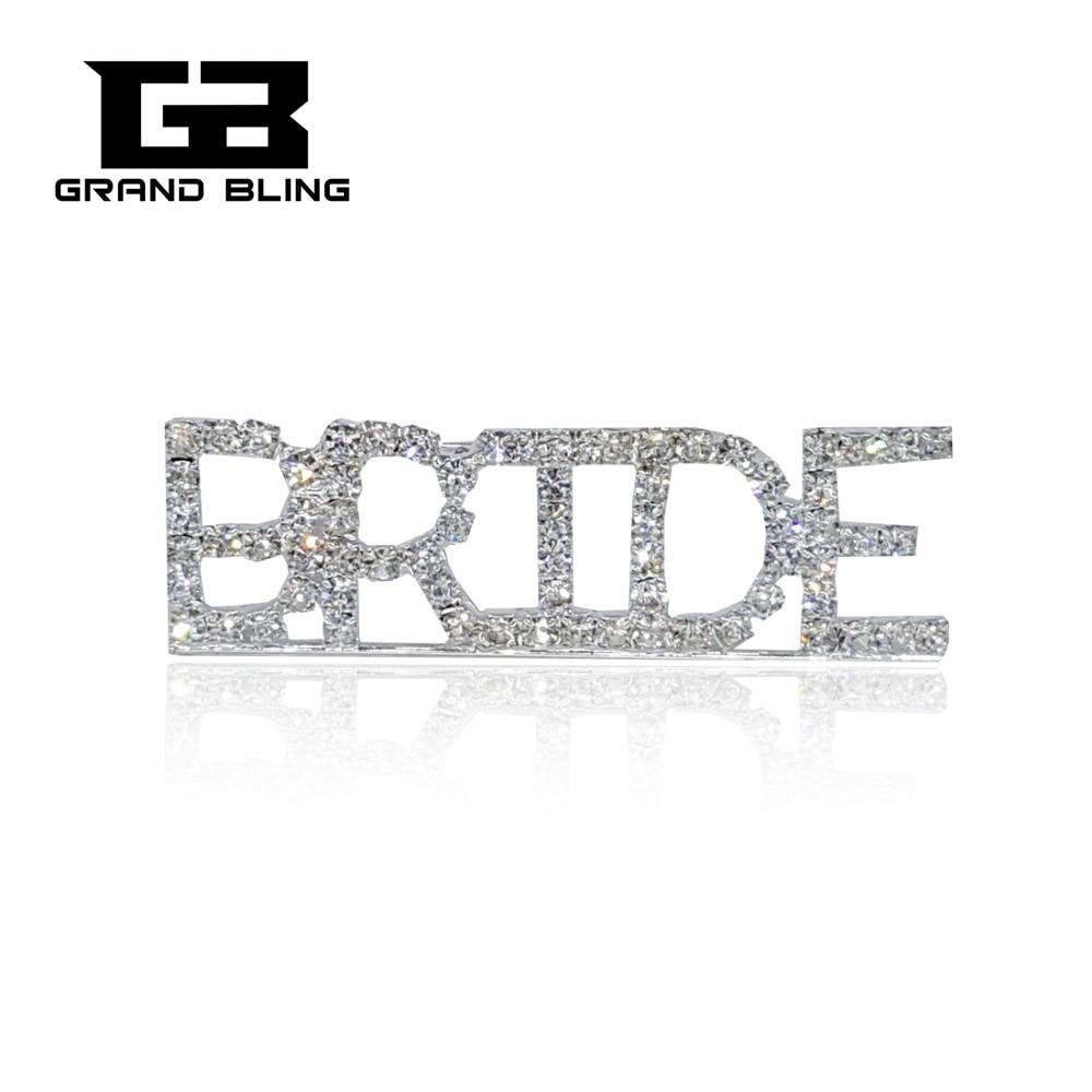 Bling Bling Silver Tone Rhinestone Bride Tema Smycken