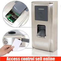 ZK MA300 Face Clocking Machine Metal Waterpoof Outdoor Fingerprint Door Standalone Biometric Access Controller Attendance