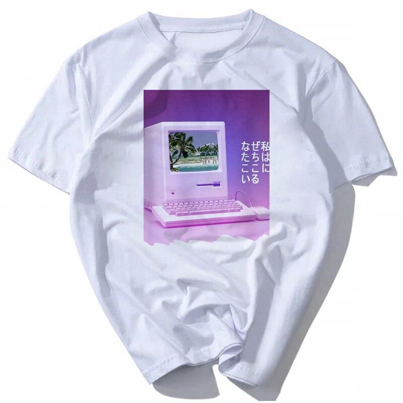 Vaporwave T Shirt Men Anime T-Shirt Men Tops Boy Short Sleeve T-shirt Top Tee Clothes Men