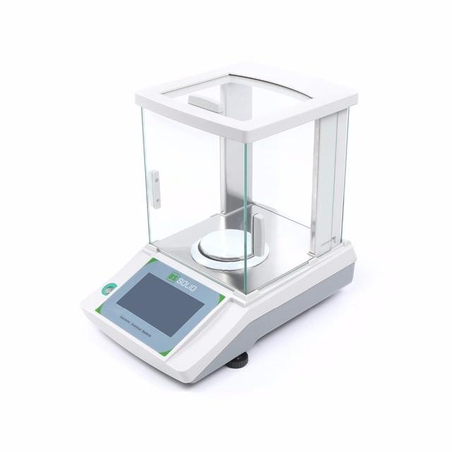 米国固体 200 × 0.0001 グラム 0.1mg ラボ分析バランスデジタル電子精密体重計 ce 認定タッチスクリーン