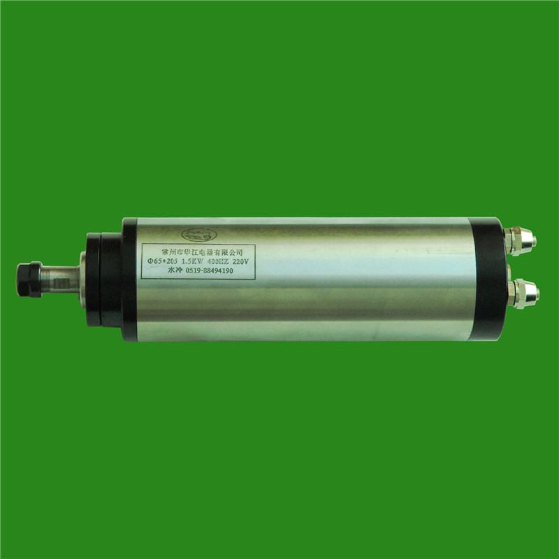 2HP 1.5kw 24000RPM ER11 water cooling Woodworking AC Spindle motor 65mm 4 bearings 220VAC 6.5A 400hz CNC Router цена