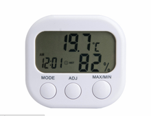Household Industrial Mini Electronic Thermometer Hygrometer High Precision Indoor Temperature Humidity Meter Time ClockL213 high accuracy handheld industrial thermometer hygrometer meter tm730 digital wet bulb and dew point humidity tester instrument