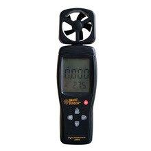 Интеллектуальный датчик цифровой анемометр AS806 0 — 45 м/с датчик скорости ветра рука — состоится анемометр-термометр воздуха