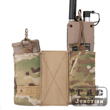 Emerson Tactical MBITR Radio Pouch And M4 5.56 Magazine Pouch Combo Set With Hook & Loop For Military Hunting Shooting Paintball