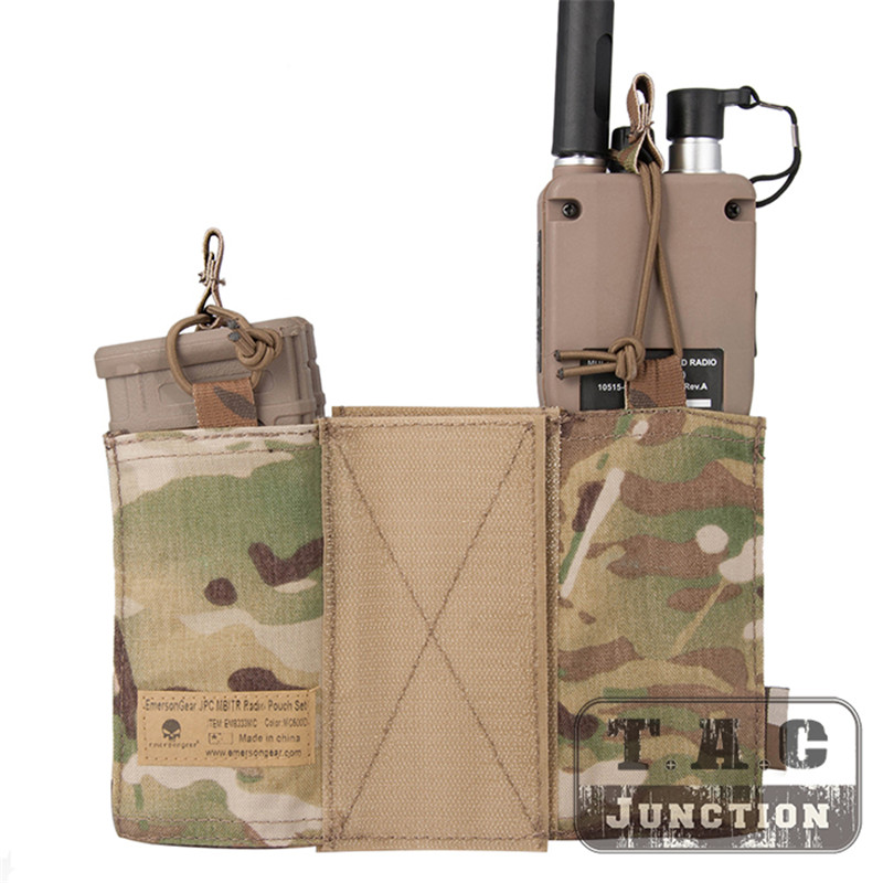 Emerson Tactical MBITR Radio Pouch and  M4 Magazine Pouch Combo with Hook & Loop Multicam-in Pouches from Sports & Entertainment