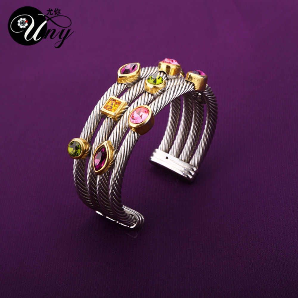 0acb5f36cfc ... UNY Bracelet Multi Twisted Cable Wire Bangle Vintage Fashion Bangles  Free Ship Unique Designer Brand Christmas ...