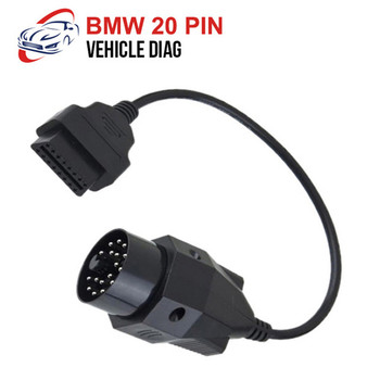 OBD II Adapter for BMW 20 pin to OBD2 16 PIN Female Connector e36 e39 X5 Z3 for BMW 20pin image