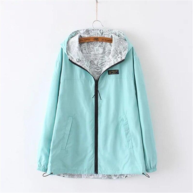 OLGITUM Chaquetas Otoño Mujer chaquetas con capucha de color sólido simple mujer