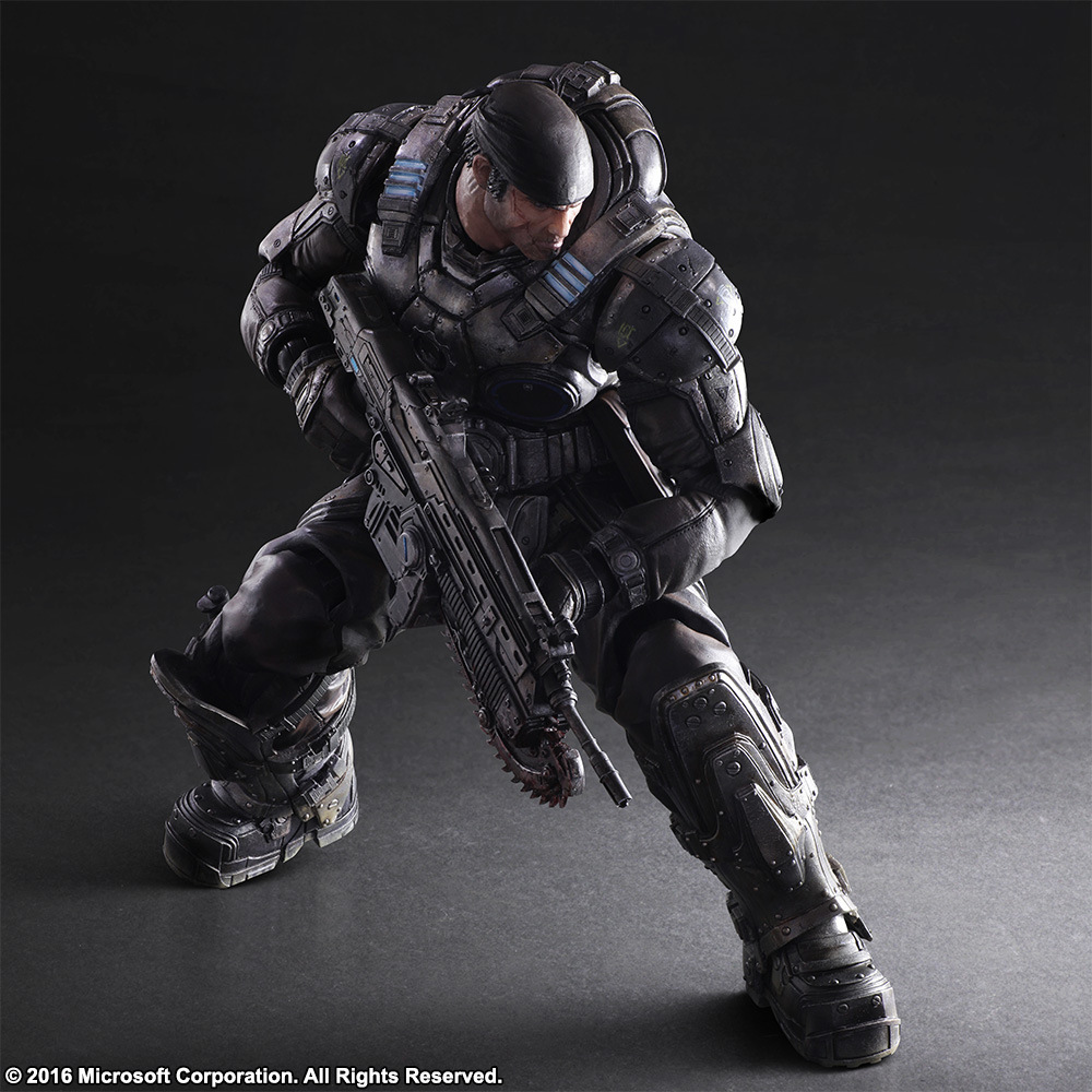 PLAY ARTS 27cm Gears Of Wars Marcus Fenix Action Figure Model Toys play arts marcus fenix game gears of war 3 war machine pa play arts kai 27cm pvc action figure doll toys
