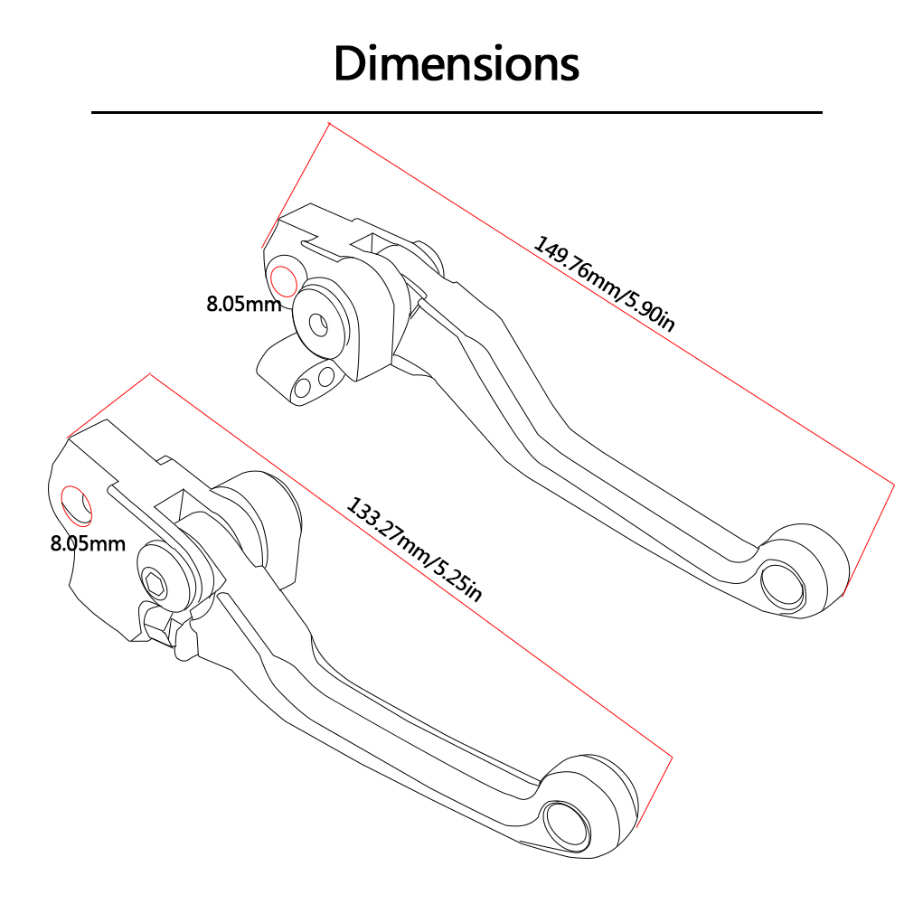 Image 5 - CNC Aluminum Dirt Bike Motocross Pit Bike Pitbike Brake Clutch Levers For KTM 450SMR 2009 450 SMR-in Levers, Ropes & Cables from Automobiles & Motorcycles