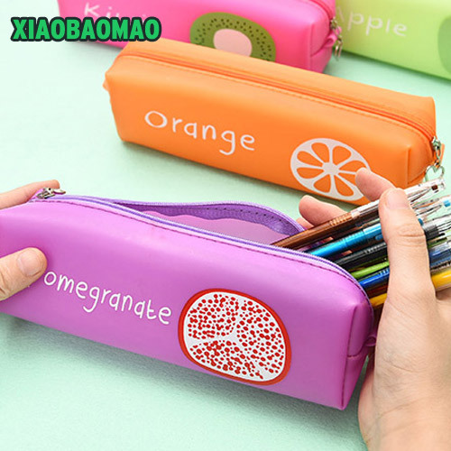 New Cute school pencil case bag for girls Fruit pencil-case School Supplies Pens Pencils Writing Supplies Gift