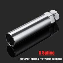 3.5 pollici da 0.8 pollici 6 Spline Drive Dado Ruota Chiave Esagonale Chiave a tubo In Acciaio