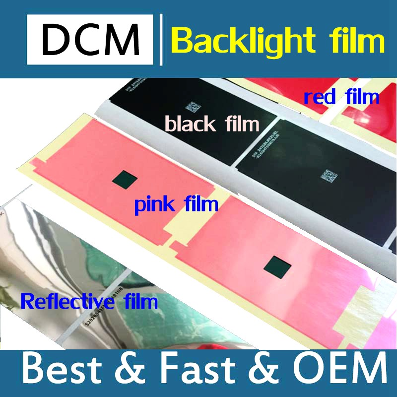 Original for iPhone7Plus 7G 6 6SP 5G backlight Sticker Film Backlight paper LCD Screen Protector black/red/pink sticker 100pcs