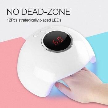Coscelia 24 w/36 w led uv 램프 네일 건조기 led 네일 라이트 네일 젤 매니큐어 기계 타이머 버튼 네일 아트 도구