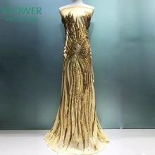 Новая мода! Золотые блестки Сетка кружевная ткань Африканская швейцарская вуаль выпускное вечернее платье кружево вышивка индийская ткань с блестками