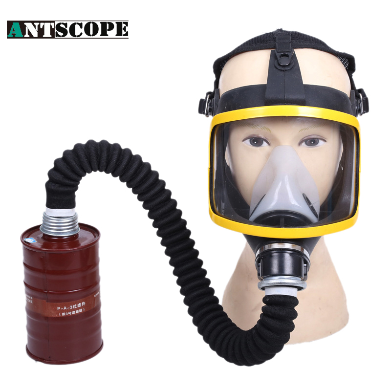 Filter Mask Formaldehyde Pesticide Gas Spray Paint Chemical Dust Silicone Protective Respirators Gas Mask With Gas Masks Filters new gas safety protection mask special dust proof masks spraying formaldehyde chemical carbon protective needed